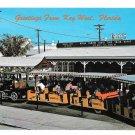 Key West Florida Conch Train Railroad Station Overseas RR Postcard Vintage FL Postcard