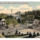 Philadelphia PA Fairmount Park East River Drive at Ridge Ave Vintage Postcard