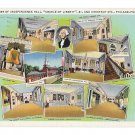 Independence Hall Cradle of Liberty Phila PA Small Multiviews Vintage Linen Postcard