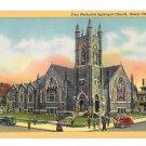 Ocean City NJ First Methodist Episcopal Church Vintage LInen Postcard Curteich