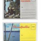 2 PA Souvenir Postcard Folders Pocono Mountains Pennsylvania Lake Harmony Split Rock Lodge