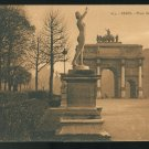 France Place du Carrousel Arc de Triomphe Beautiful Things of Paris PATRAS Sepia Postcard