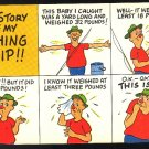 Comic The Story of my Fishing Trip Humor Postcard