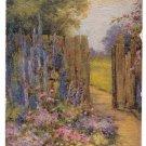 Tucks Textured Oilette All in a Garden Fair Flora Pilkington Painting Postcard
