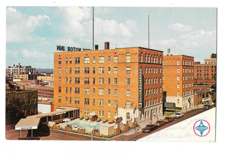 Sheraton Motor Inn Springfield MA Motel Hotel Vintage Massachusetts Postcard