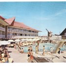FL Miami Beach The Castaways Resort Motel Swimming Pool View Vintage 1964 Postcard
