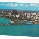 FL Miami Miamarina Aerial View Biscayne Bay Marina 1975 Vintage Florida Postcard