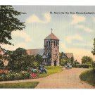 ME Kennebunkport Maine St Ann by the Sea Church Vintage 1941 Tichnor LInen Postcard
