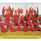 Lobster King Hackneys Seafood Restaurant Beauty Queen Waitresses Atlantic City NJ Postcard