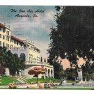 Augusta Georgia Bon Air Hotel Vintage Linen 1954 Postcard