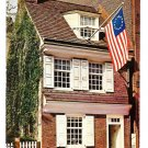 "Philadelphia PA Betsy Ross House ""Old Glory"" American Flag Vintage Mike Roberts Postcard"