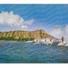 Hawaii Surfing at Waikiki 1951 Vintage MIke Roberts Postcard