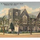 NJ Wildwood St Simeons by the Sea Episcopal Church Vintage Lynn Boyer Linen Postcard