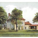 PA Valley Forge Gen Washingtons Headquarters Rear View Log House Vintage Postcard