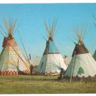 US Native Americans Blackfeet Teepees Browning Montana Encampment Blackfoot Nation Postcard