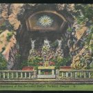 The Grotto Portland Oregon Sanctuary of Our Sorrowful Mother Vintage Linen Postcard