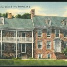 New Jersey The Old Barracks Trenton NJ 1941 Tichnor Linen Postcard