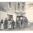France Artaud Nozais Postcard Tourists arrive at the Beach Hotel in Coach