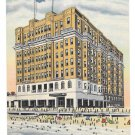 New Jersey The Mayflower Hotel and Beach Atlantic City Curteich Vintage Linen Postcard