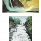Waterfalls 2 Postcards Montmorency Falls Canada Hector Falls New York