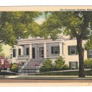 Natchez MS The Parsonage Mansion Vintage Mississippi Linen Postcard
