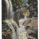 Rainbow Falls Watkins Glen NY Finger Lake Region Waterfall Vintage Linen Postcard