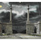 Smith Memorial at Night Under Moonlight Fairmount Park 41st st  Philadelphia PA Postcard