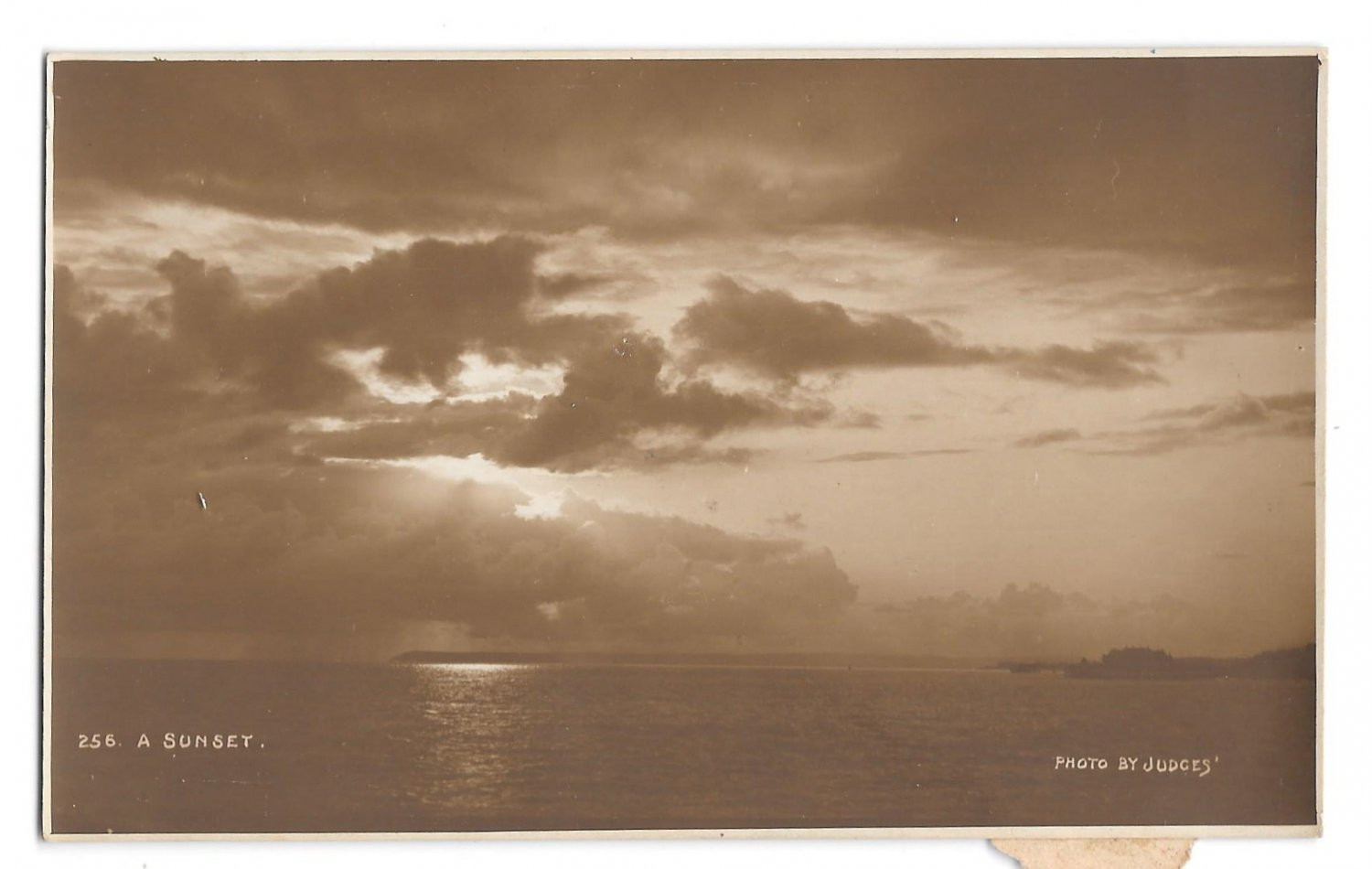 RPPC Sunset Judges Real Photo Sepia Postcard Hastings England