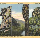 NH Franconia Notch Multiview Three Rock Faces Old Man Watcher Indian Head Linen PC