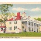 VA George Washingtons Mansion Mount Vernon Vintage B S Reynolds Linen Postcard