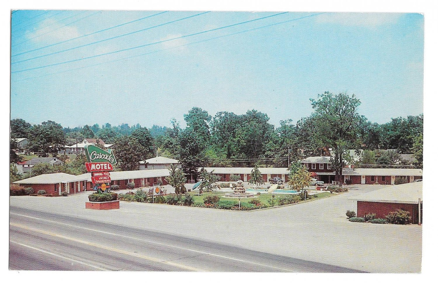 Cascades Motel Chattanooga TN US Hwy 41 Mr and Mrs TC Barrett Mgrs 1962 Vintage Postcard
