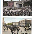 Germany Berlin Changing the Guard Unter den Linden New Guardhouse Two Vintage Postcards