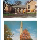 Bennington Vermont Museum and Battle Monument 2 Vintage Mike Roberts Postcards