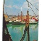 Gloucester Waterfront Cape Ann MA Portugese Seine Fishing Fleet Vintage Mike Roberts  Postcard