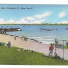 Vermont Regatta on Lake Champlain St Albans Bay Vintage Linen Postcard