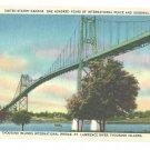 Thousand Islands International Bridge St Lawrence River US Canada Vintage Postcard