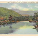 Vermont Green Mountains View of Camels Hump from Winooski River Vintage Linen Postcard