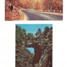 Natural Bridge and view of Highway 211 Virginia Shenandoah National Park VA Vintage Postcard