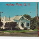 Asbury Park Public Library First and Grand Avenue Vintage New Jersey Postcard
