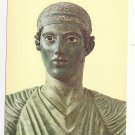 Greek Art Delphi Charioteer Sculpture Detail Head Ancient Statue  4X6 Postcard
