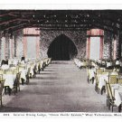 MT West Yellowstone Union Pacific Dining Lodge Interior Vintage H H Tammen Postcard