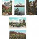 Union Pacific Railroad Pictorial Postcards 5 Differemt CA WY UT includ National Parks