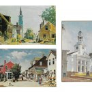 Rockport MA Artist J Bradford Hague Cleaves St Bearskin Neck Church 3 Diff Postcards