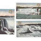 Niagara Falls Canada Lot of 3 Vtg Postcards American and Horseshoe Falls