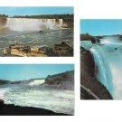 Niagara Falls Canada 3 Postcards American Horseshoe Falls Maid of the Mist