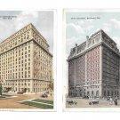 New York Ambasador Hotel Belvedere Hotel Baltimore MD 2 Vintage Postcards