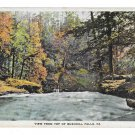 PA View From The Top Bushkill Falls Vintage ANC Waterfall Postcard