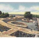 Colorado Sun Temple Mesa Verde National Park Vintage Linen Postcard