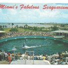Miamis Fabulous Seaquarium Porpoises Vintage 1969 Postcard Larry Witt Photo