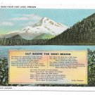 Oregon Lost Lake Mt Hood Arthur Chapman Western Poem Vintage Postcard